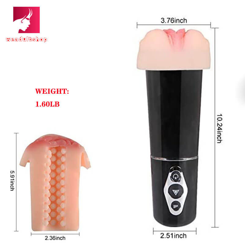 10 Mode Silicone Smart Vibrating Pocket Pussy - Adult Toy