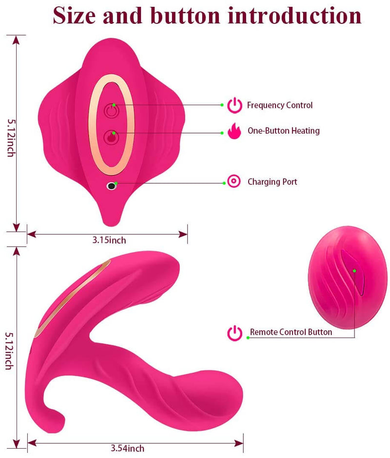 Butterfly Vibrator Wireless Wearable Massager - Adult Toys