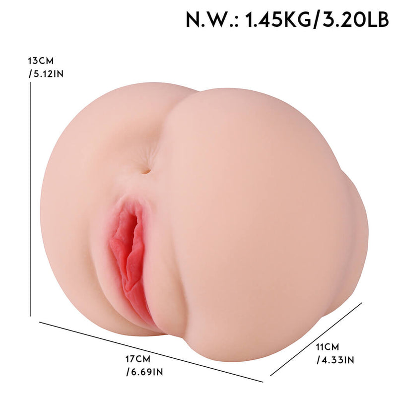 Big Apple Hip Fake Booty Voice Silicone Ass Sex Toy