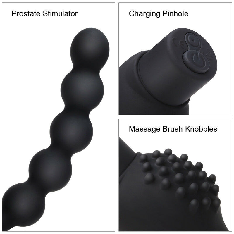 Male Prostate Massage Butt Plug 10 Frequencies Vibrating Sex Toy - Adult Toys