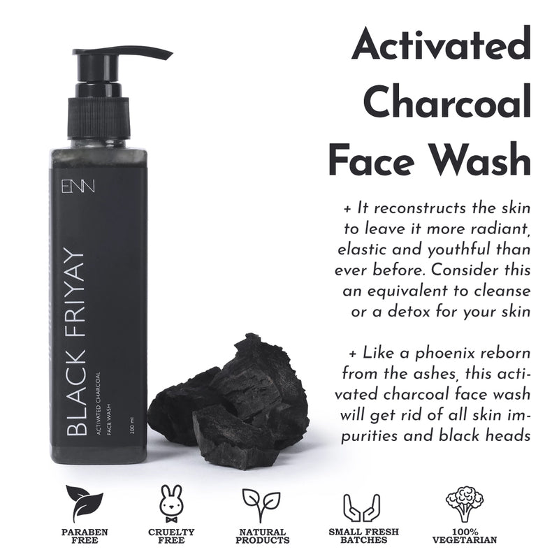 Black Friyay Activated Charcoal Face Wash