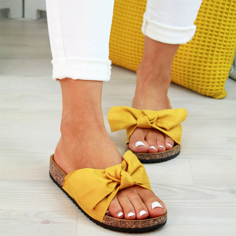 BESTWALK™ Butterfly Bow Slip on Sandals