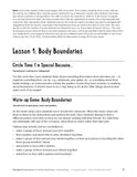 Lesson Plans for Value BUNDLES: Body Safety & Consent