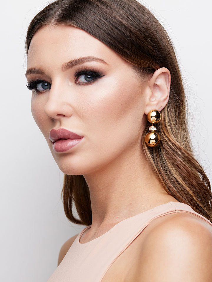 CHRISTIAN DIOR Goldtone Drop Earrings