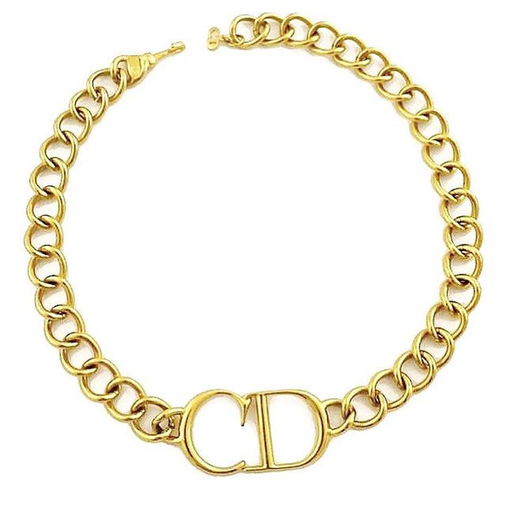 CHRISTIAN DIOR 'CD' Necklace