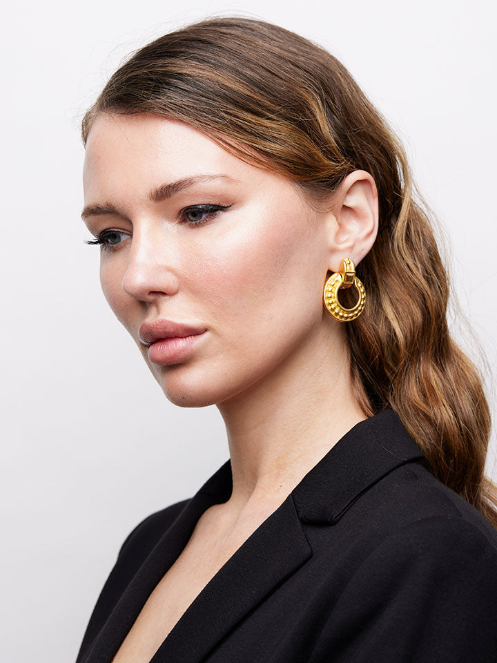 GIVENCHY Door Knocker Hoop Earrings