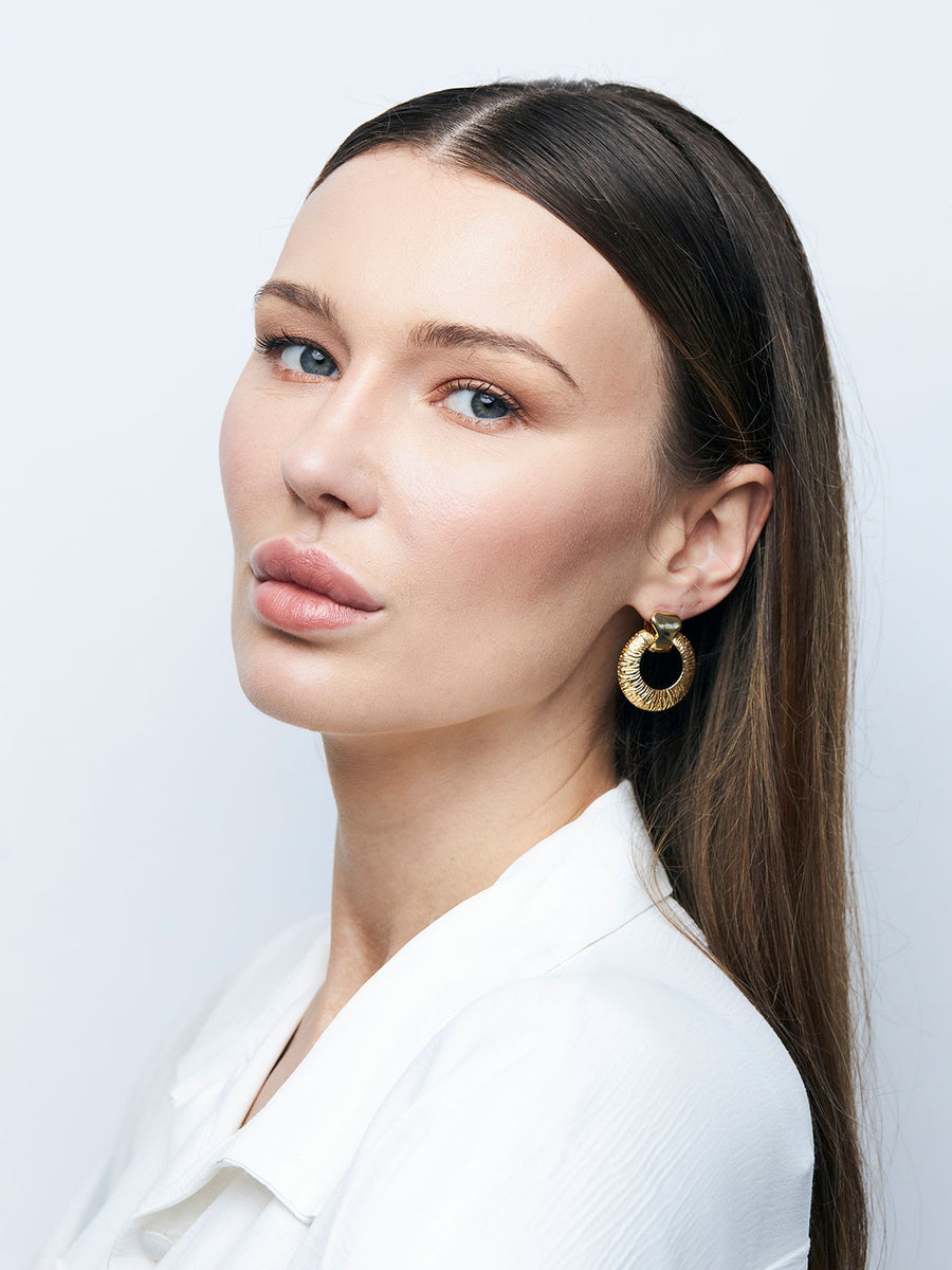 GIVENCHY Petite Doorknocker Earrings
