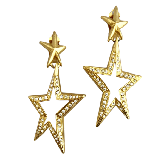 GIVENCHY Matte Gold Star Earrings