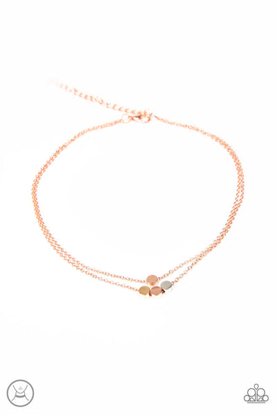 Mini Minimalist Choker Necklace - Copper