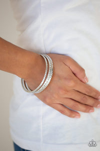 Casually Couture Bangle Bracelets - Silver