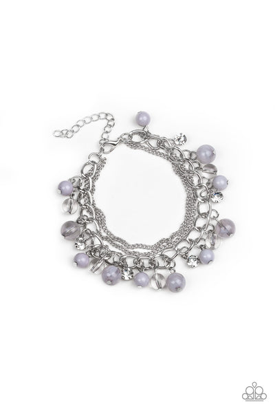 Let Me See Bracelet - Silver and gray