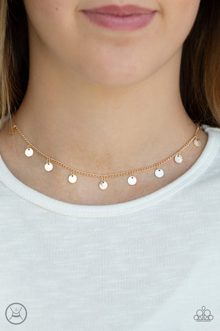 Chime a Little Brighter Choker Necklace - Gold