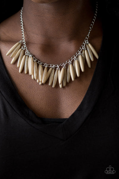 Full of Flavor Necklace - Light Brown