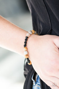 Laid Back Bracelet - Brown Bead - Slide Knot