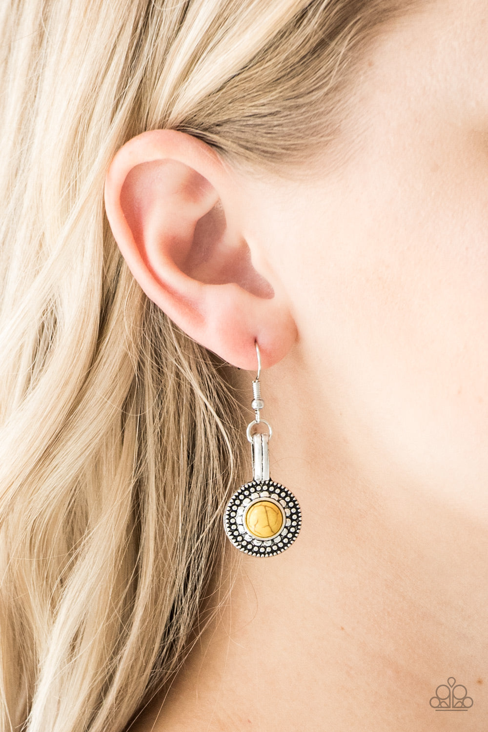 Simply Stagecoach Earrings - Yellow