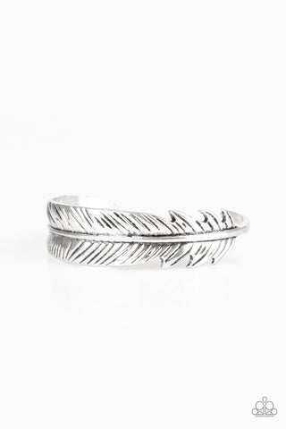 Tran-QUILL-ity Cuff Bracelet - Silver