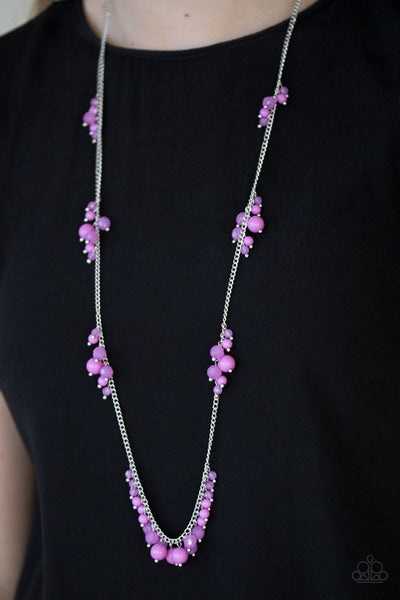 Coral Reefs Necklace - Purple & Silver