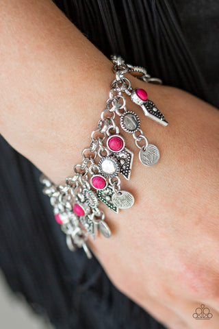 Triassic Trade Route Bracelet - Pink & Silver