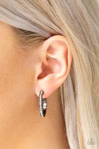 Hoop Haven Earrings - Gun Metal