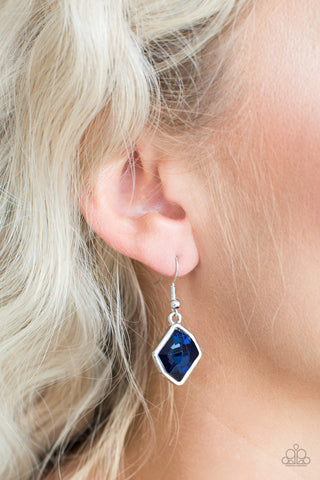 Glow It Up Earrings - Blue & Silver