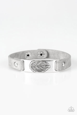 Take the Leaf Bracelet - Silver and Gray
