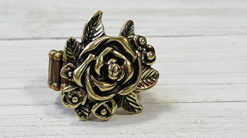 Bouquet Bonanza Ring - Brass