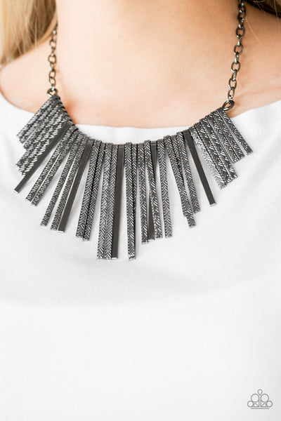 Welcome to the Pack Necklace - Gun Metal