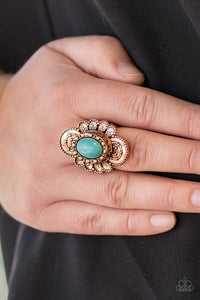 Basic Element Ring - Copper & Blue Turquoise