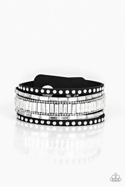 Rock Star Rocker Bracelet - Black Bling Wrap