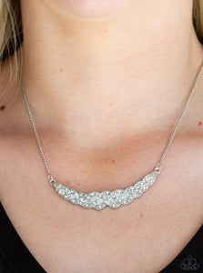 Whatever Floats Your Yacht Necklace - Silver Crystals
