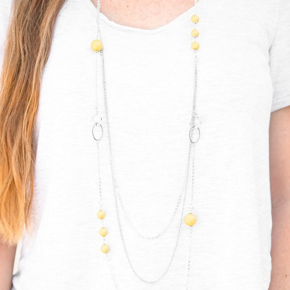 Beachside Babe Necklace - Yellow