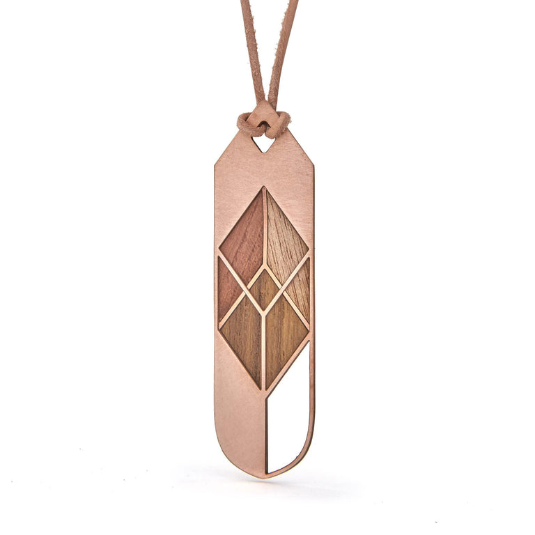 CARAGANA | copper with wood inlays - Ausgefallener Designerschmuck, bracelets/Armbänder, earrings/Ohrringe, necklaces/Ketten