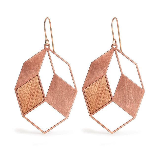 AUTUMN LEAVES | copper with wood inlays
