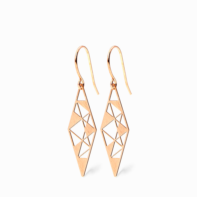 RHOMBUS big | brass rosegold plated - Ausgefallener Designerschmuck, bracelets/Armbänder, earrings/Ohrringe, necklaces/Ketten