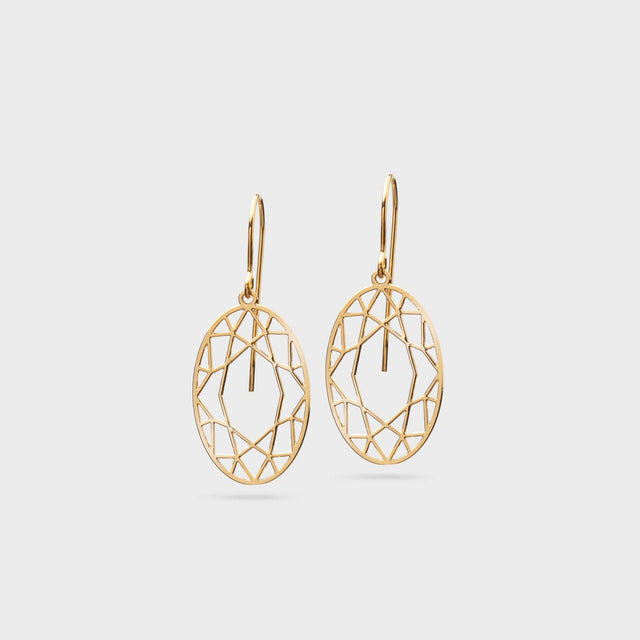 DIAMANTCUT oval | brass gold plated