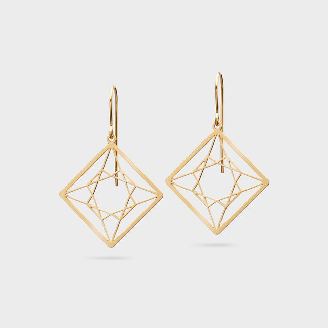 DIAMANTCUT princess cut | brass gold plated - Ausgefallener Designerschmuck, bracelets/Armbänder, earrings/Ohrringe, necklaces/Ketten