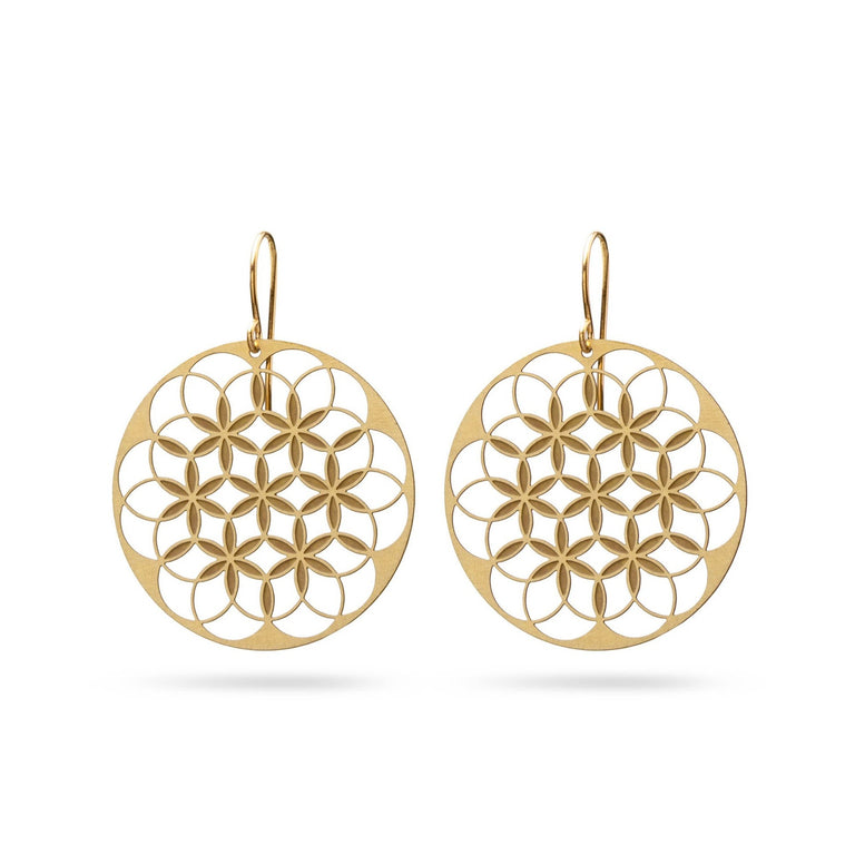 FLOWER OF LIFE V1 | LEBENSBLUME | gold-bronze
