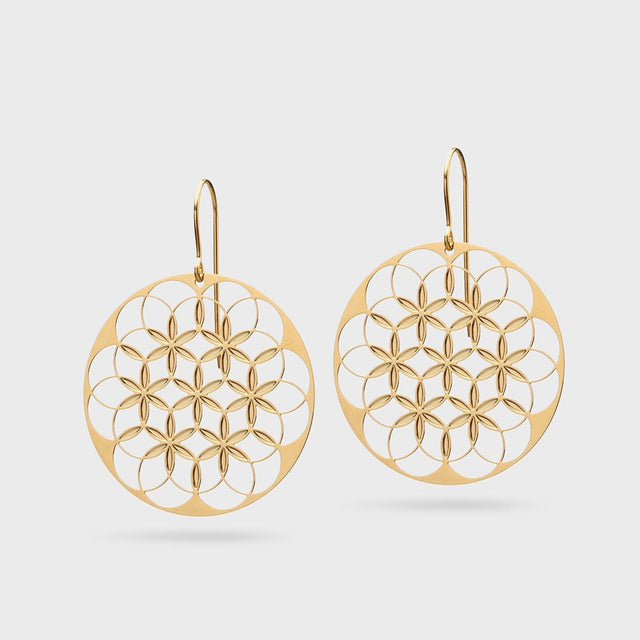 FLOWER OF LIFE V1 | LEBENSBLUME | brass gold plated