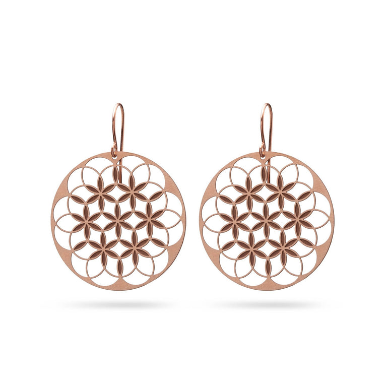 FLOWER OF LIFE V1 | LEBENSBLUME | rose-bronze