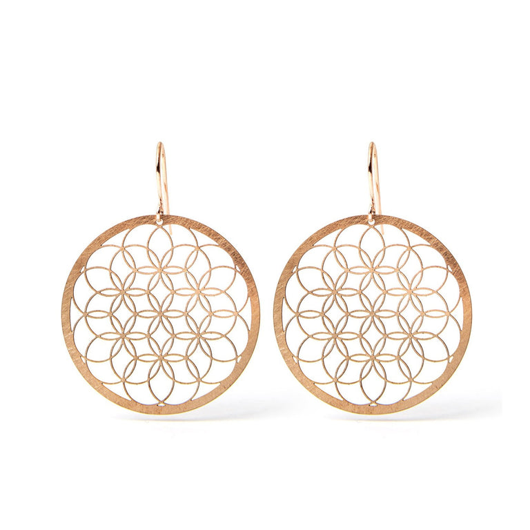 FLOWER OF LIFE V3 | LEBENSBLUME | rose-bronze