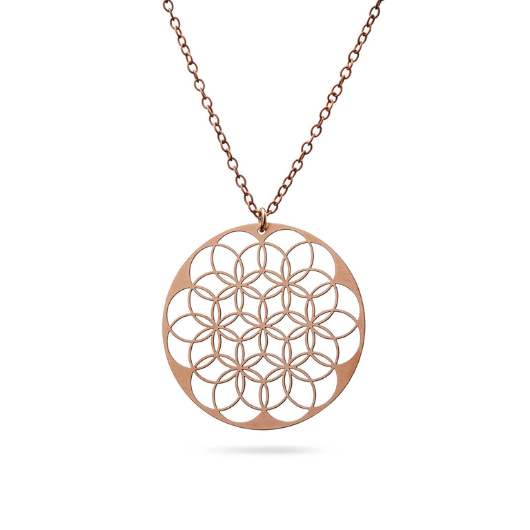 FLOWER OF LIFE | LEBENSBLUME | Kette | rose-bronze