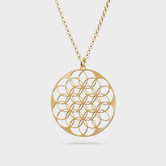 FLOWER OF LIFE | LEBENSBLUME | Kette | gold plated