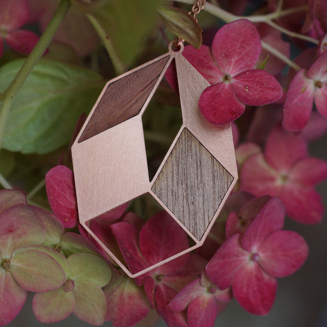 AUTUMN LEAVE | copper with wood inlays