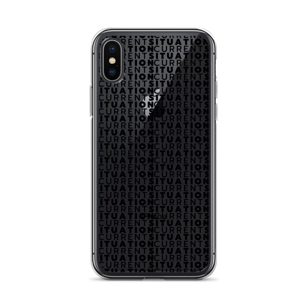 Current Situation Black iPhone Case