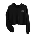 Load image into Gallery viewer, Mind Your Own Stitched Crop Hoodie