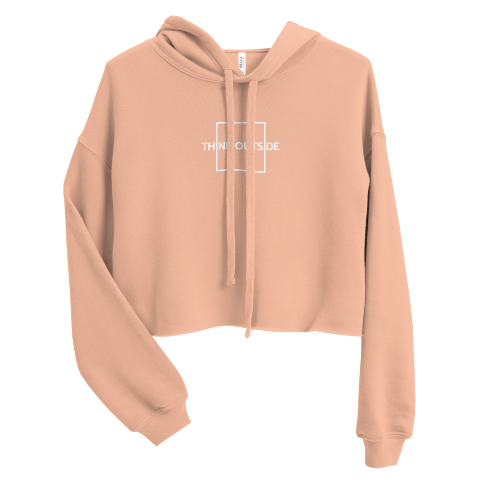Think Outside The Box Crop Hoodie