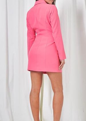 Z Boss B* Blazer Dress in Hot Pink
