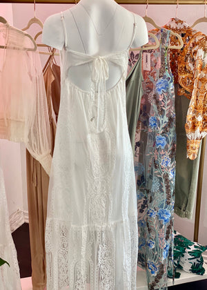 Maxi Lace Button Down Dress