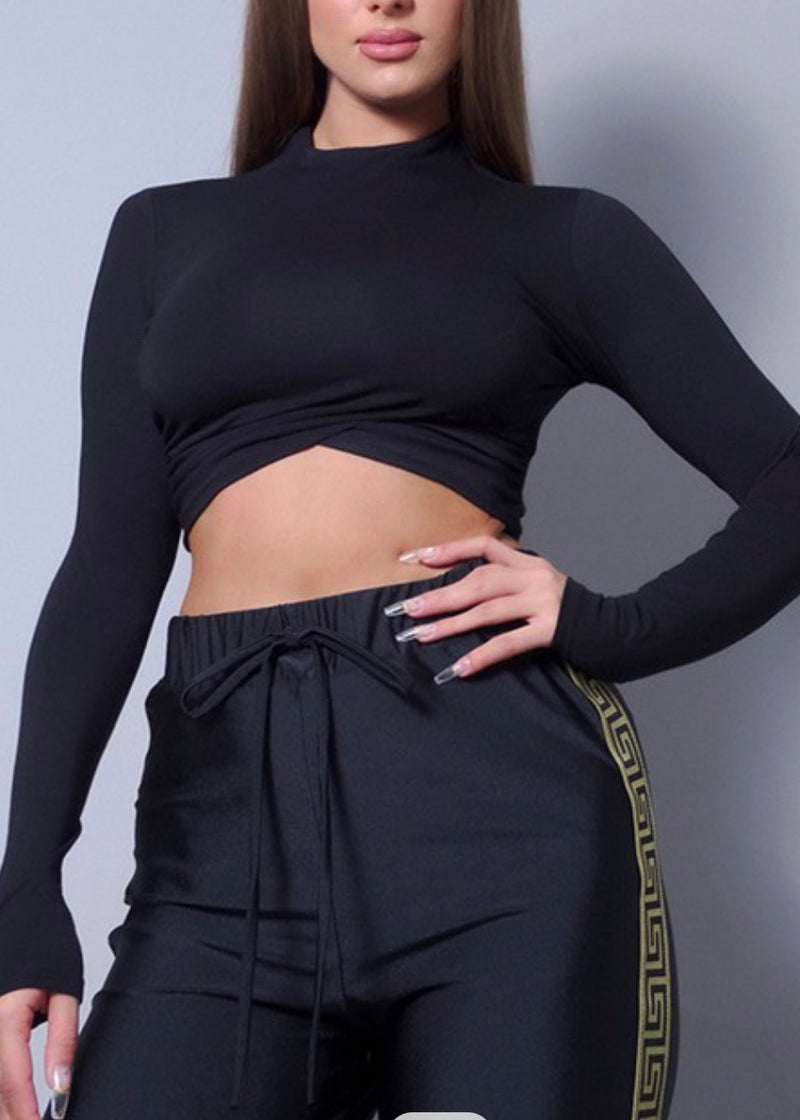 Side Ruched Basix Crop