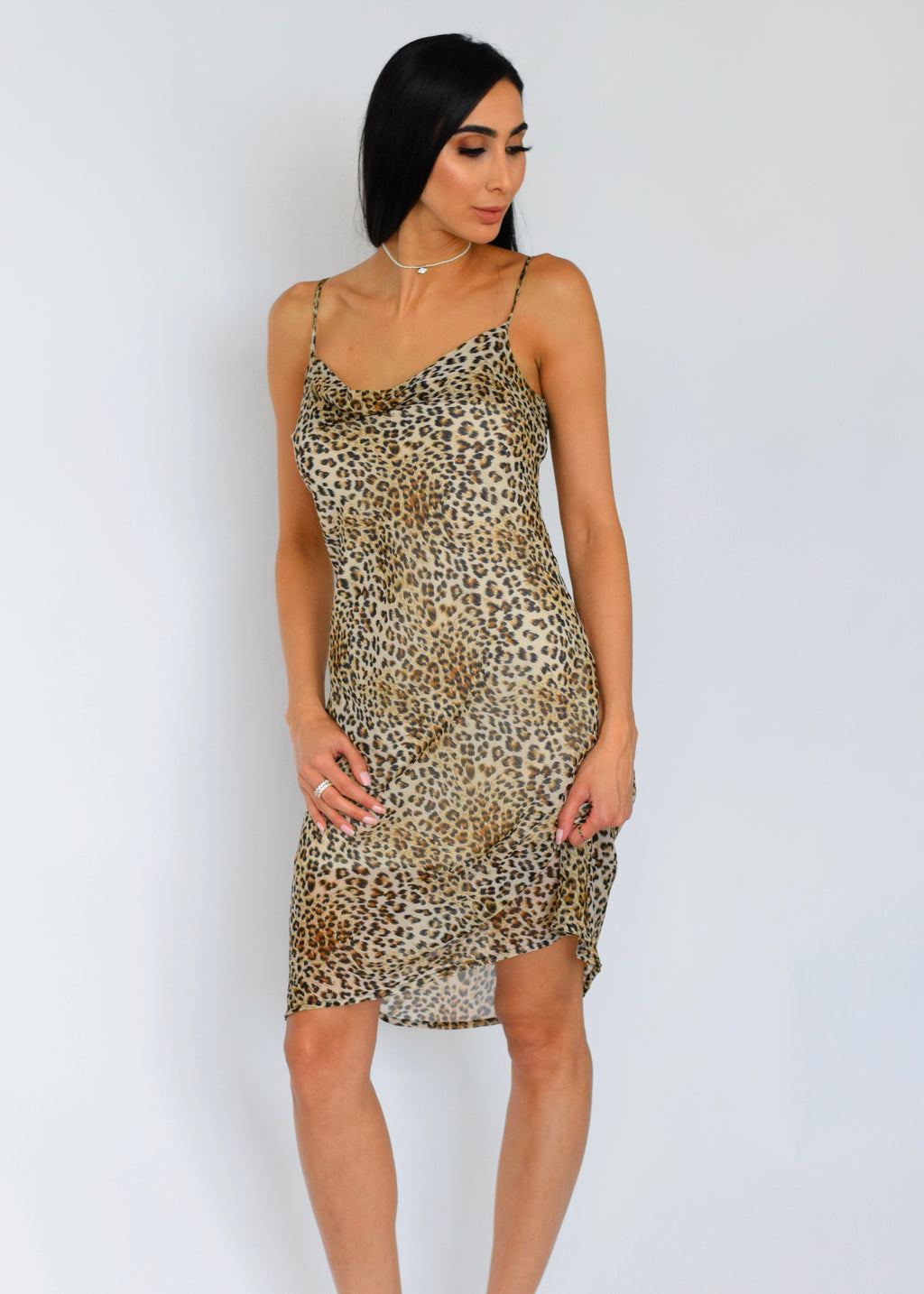 Leopard 'Catch Me If You Can' Slip Dress